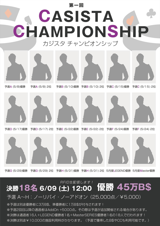 5月から新イベント「カジスタチャンピオンシップ」が始まります(`・ω・´)!!✨